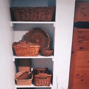 Large Brown Wicker Laundry Basket